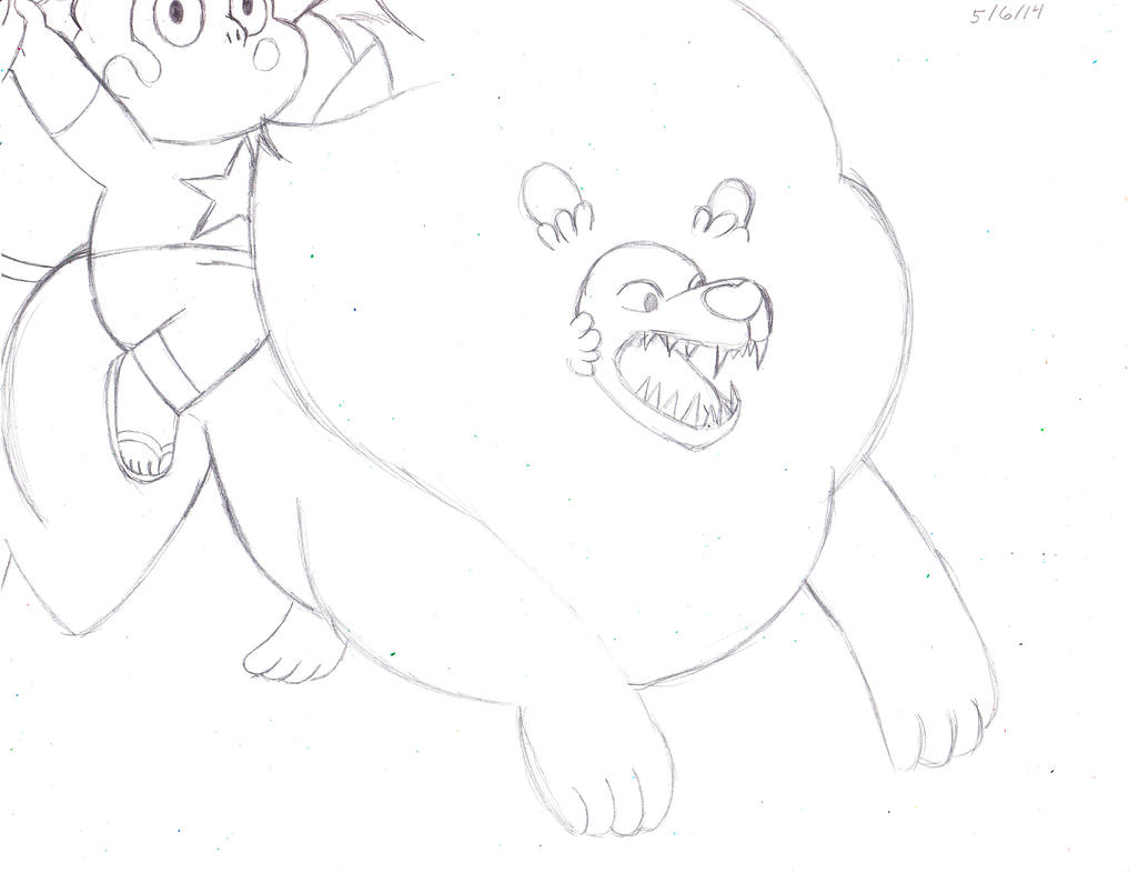 Lion and Steven Fail by Suemoons
