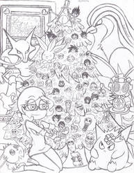 Merry Christmas From Suemoons (uncolored)