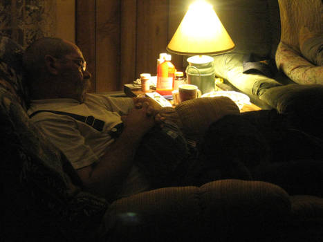Daddy Sleeping