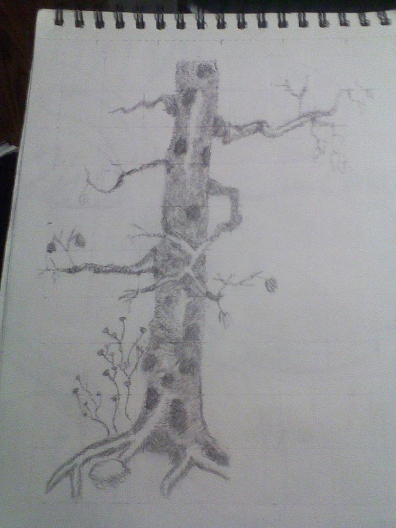 Cross-Hatched Tree by Kuejena