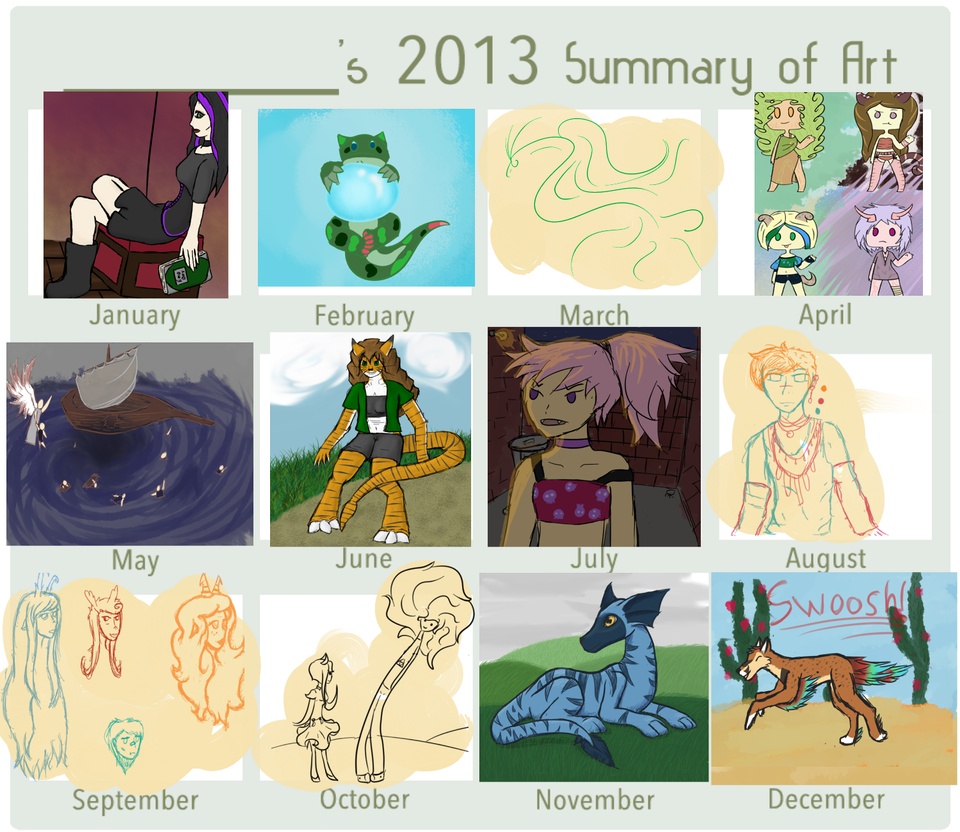 2013 Art Summary by Kuejena