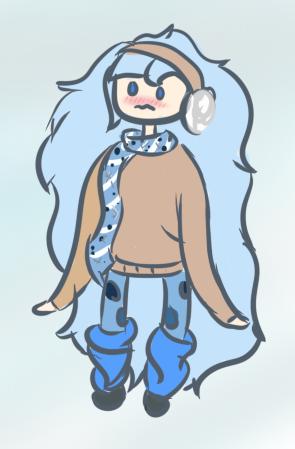 Shy Winter Girl by Kuejena
