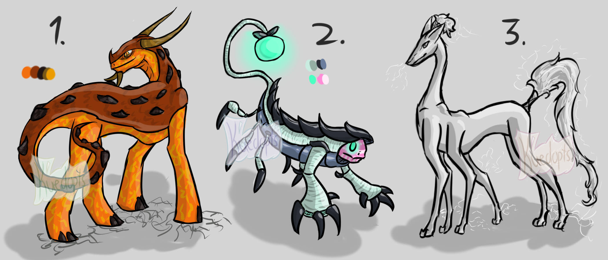 Species Adopts [CLOSED] by Kuejena
