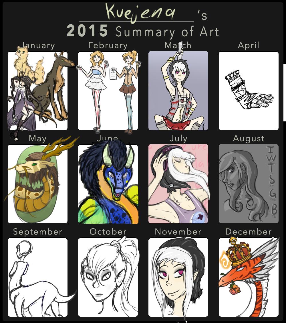 Kue's 2015 Summary of Art by Kuejena