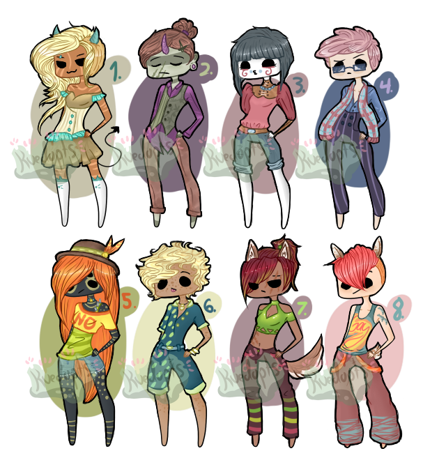 Class and Sass Adoptables [OPEN] by Kuejena