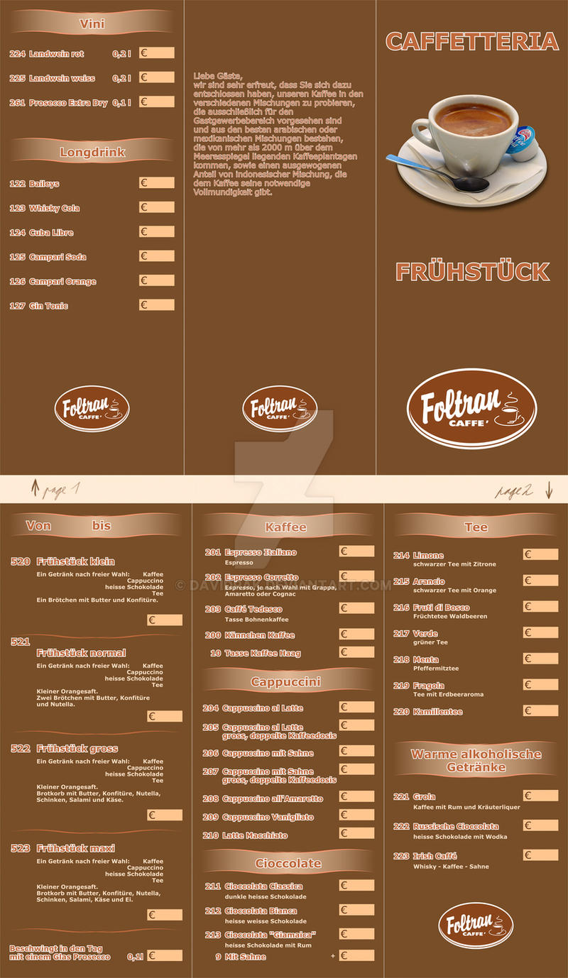 menu of foltran caffe by davidrak on deviantart