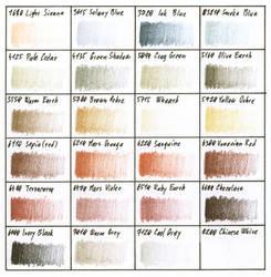 Colour chart - Derwent Drawing range