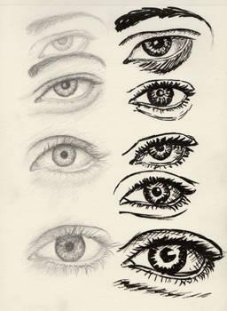 Eyes doodling 1