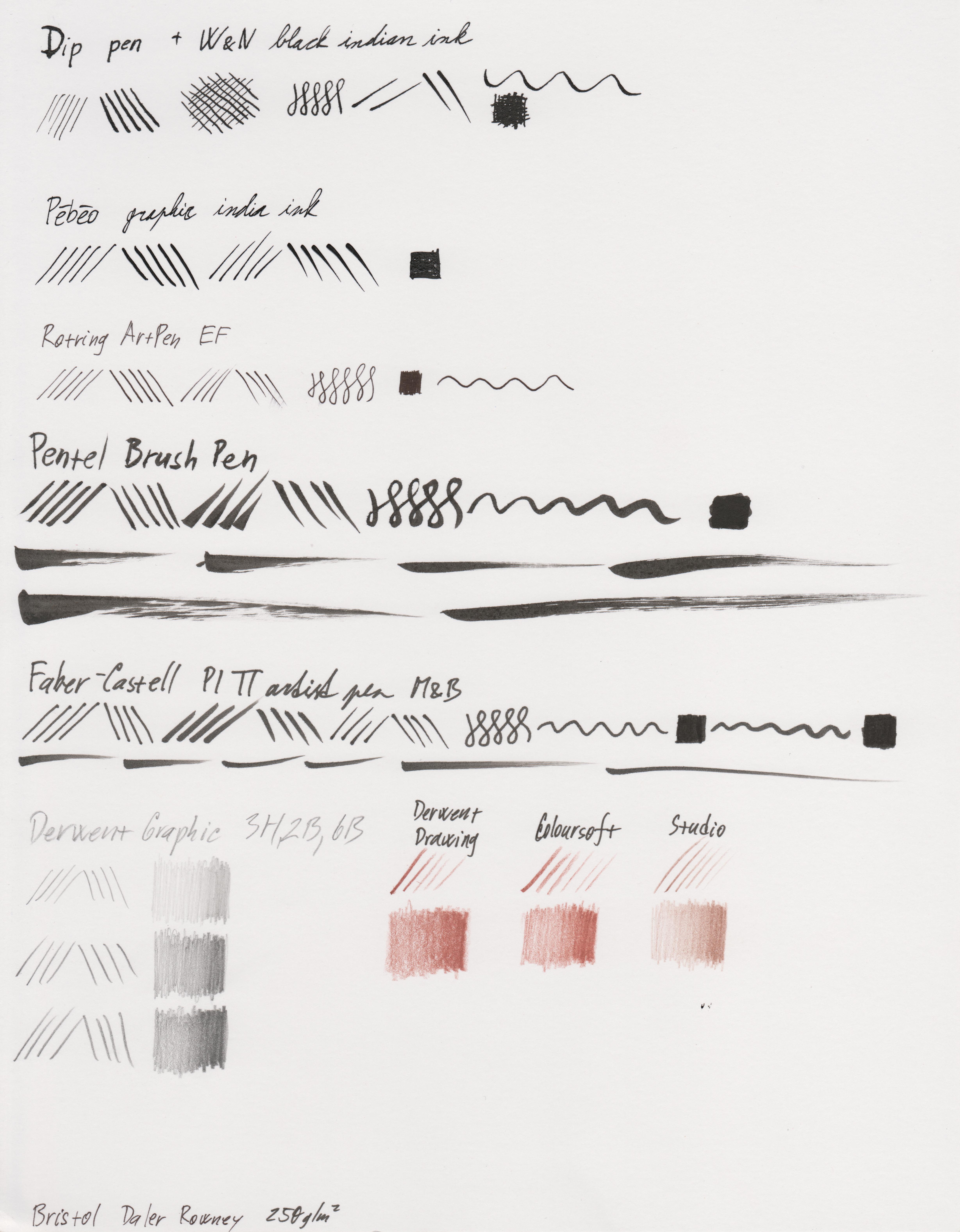 Paper test - Bristol Daler Rowney 250gsm