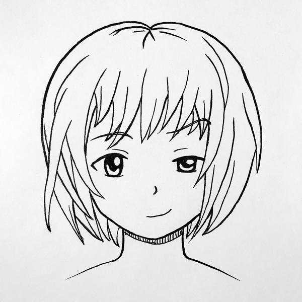 Girl face practice