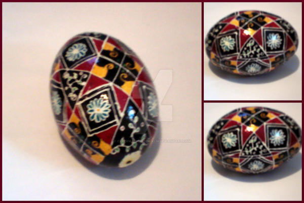 Floral Pysanky Egg by cybermathwitch-klm