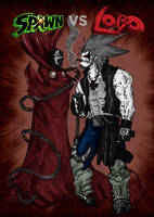 Spawn vs Lobo cover by Stachir