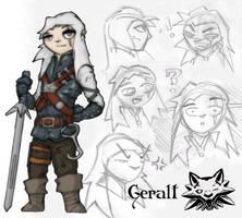 The Legend of Witcher: Geralt by Stachir
