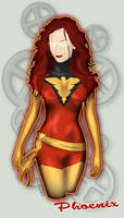 Jean Gray Dark Phoenix by Stachir