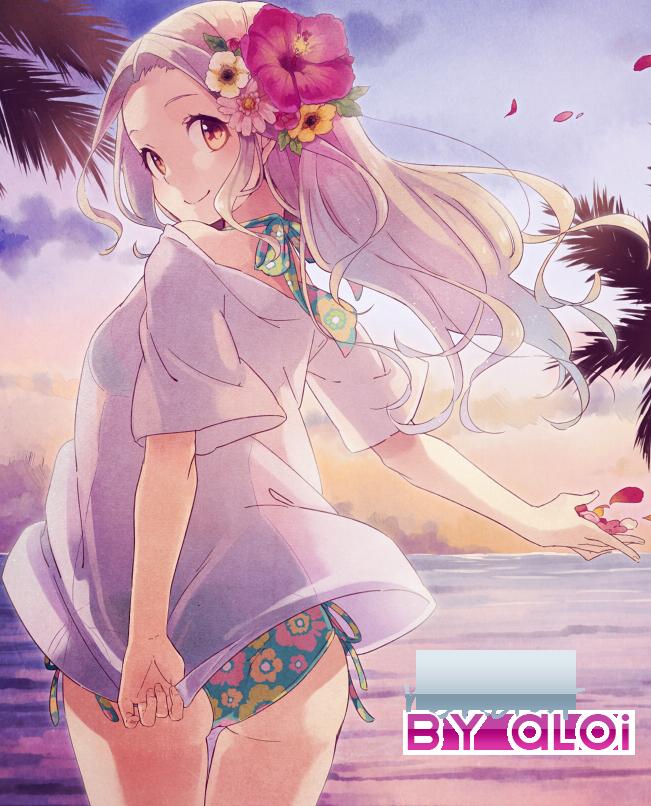 Female beach render by aloiichigo on deviantart - Beach anime girl ...