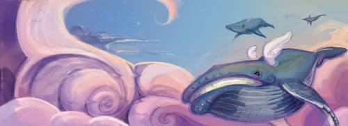 Sky Whales by PawnAttack