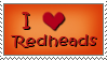 I *heart* Redheads stamp by Lawleighette