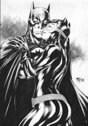 Batman and CatWoman by Fredbenes