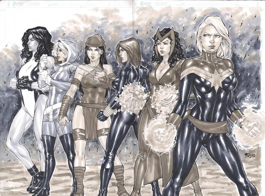 Marvel Girls by Fredbenes