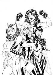Avengers Girls by Fredbenes