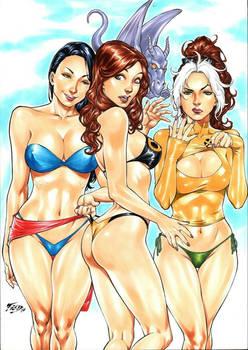 Rogue, Kitty Pryde, Psylocke