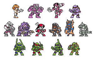 NGPC-style TMNT Tournament fighters