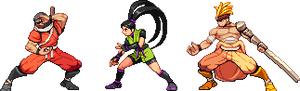 CPS2 Ninja Prophecy Chars.