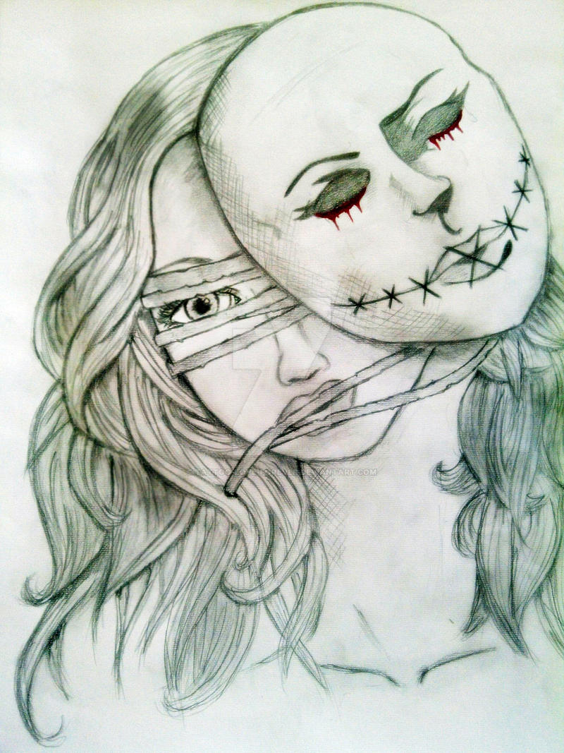 The Girl Behind Mask By Tattoo Love Forever