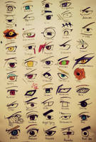 Naruto characters eyes by tattoo-love-forever