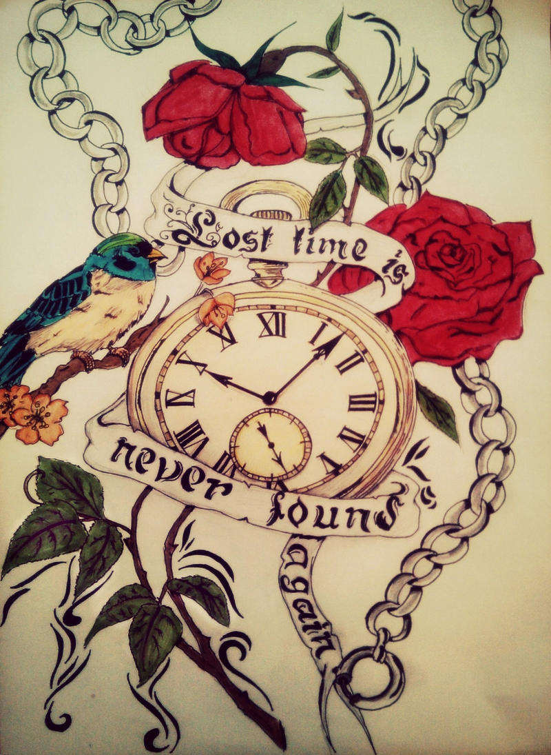My newest tattoo: seize the day or die regretting the time ... |Lost Time Tattoo Ideas