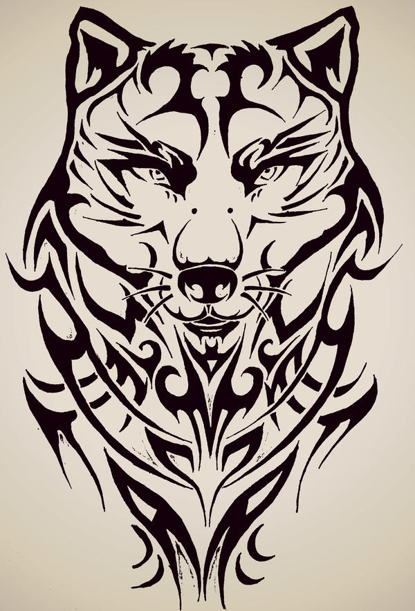 Tribal wolf by tattoo love forever on deviantart for Things tattoo artists love