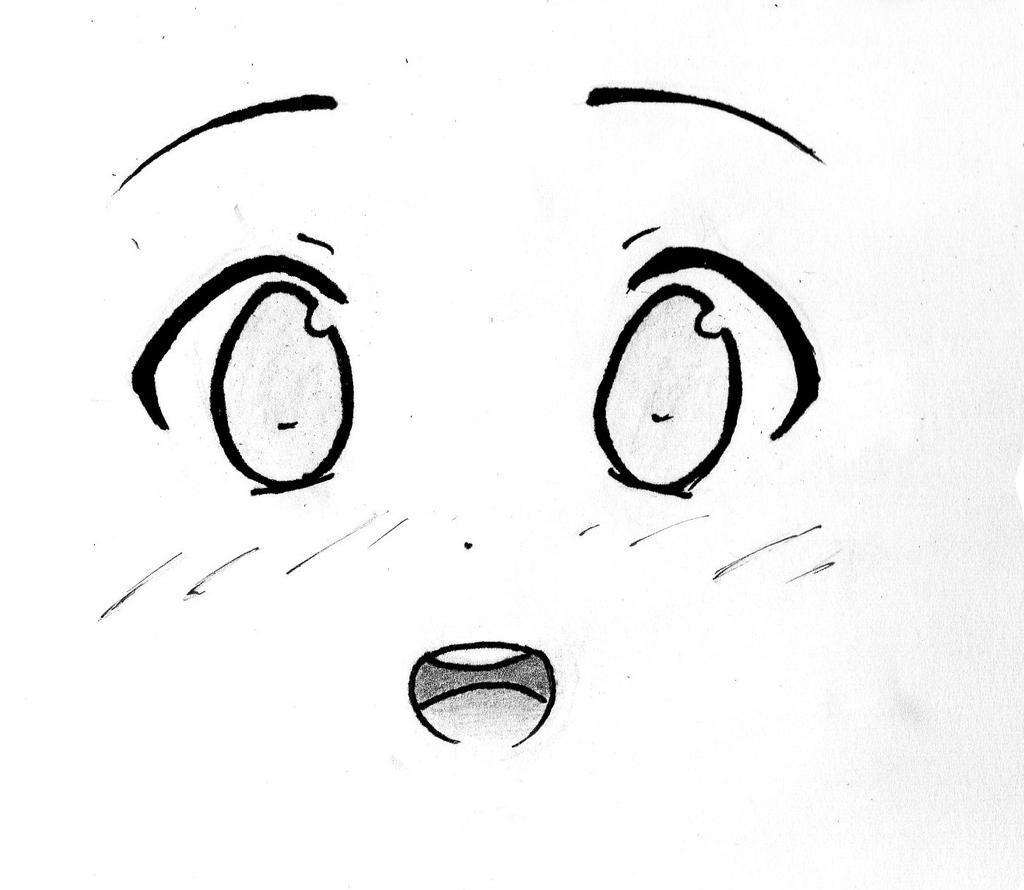 Happy Manga Girl's Face by JordanRoy on DeviantArt