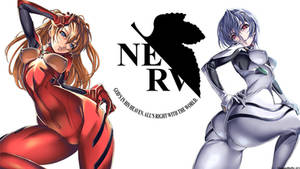 Asuka Langley and Rei Ayanami