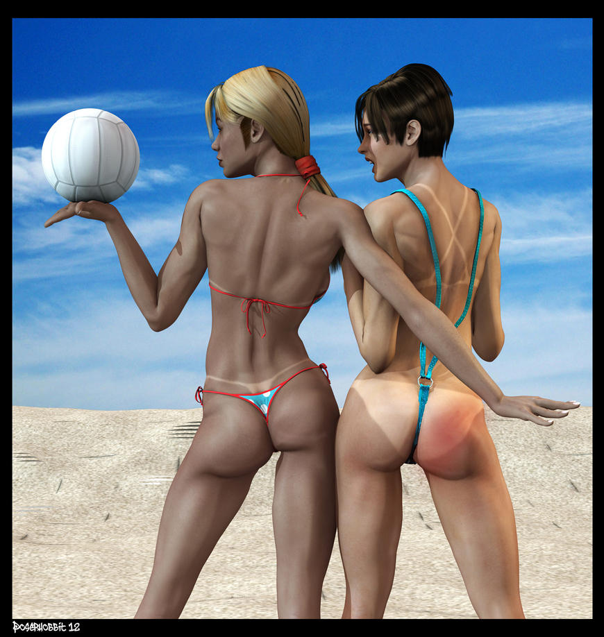 3d hetai vollyball cartoon scenes