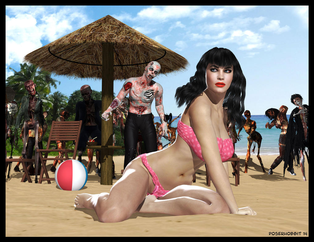 GoS: Betty on the Beach by Poserhobbit