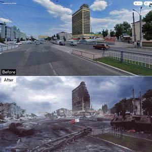 Luhansk destroed