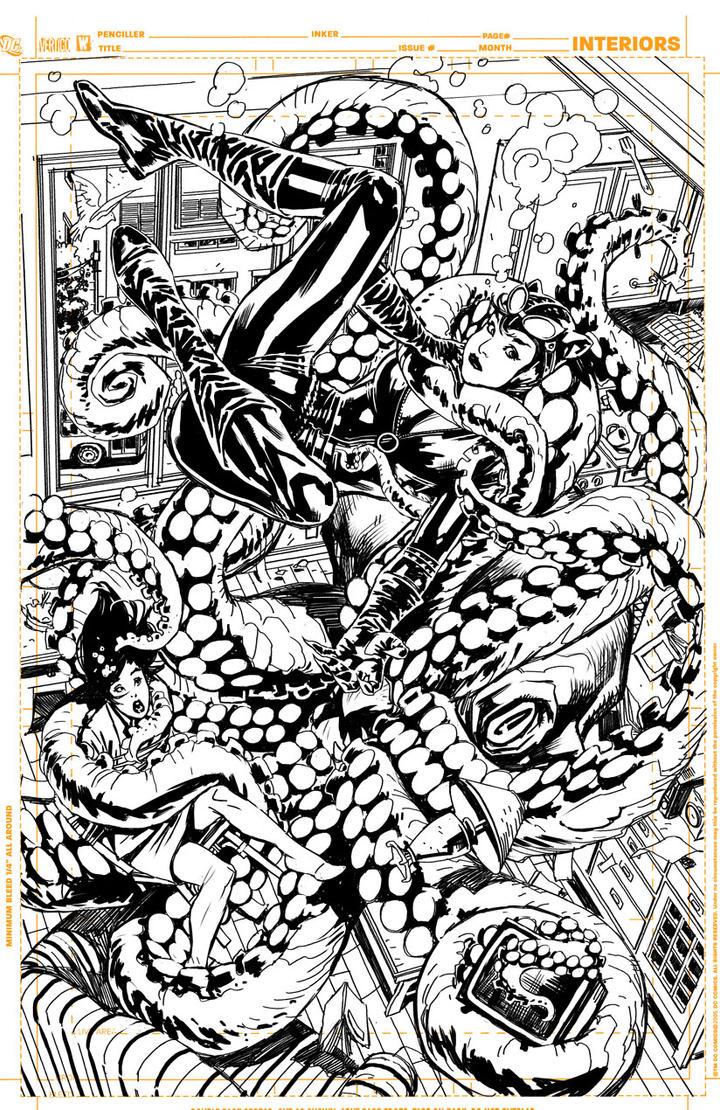 """Batman Inc """"pencils"""" page 24 by YanickPaquette"""