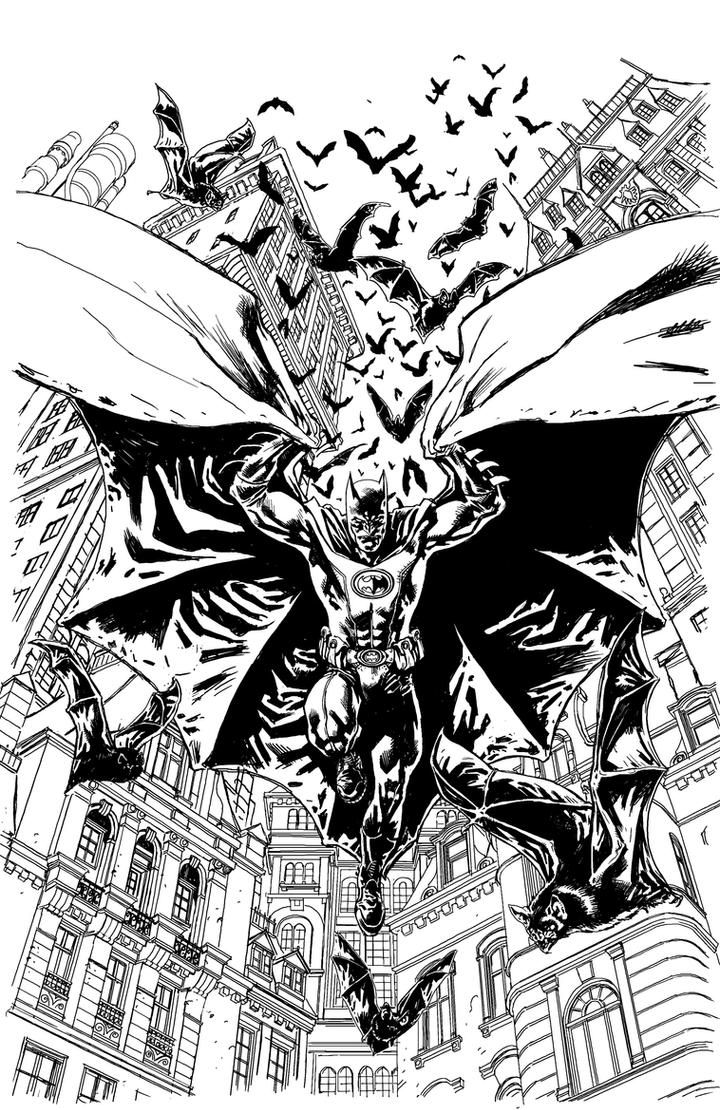 Batman Inc Cover Pencils by YanickPaquette