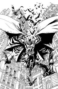 Batman Inc Cover INKS