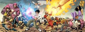 Ultimate X-men 4 cover splash by YanickPaquette