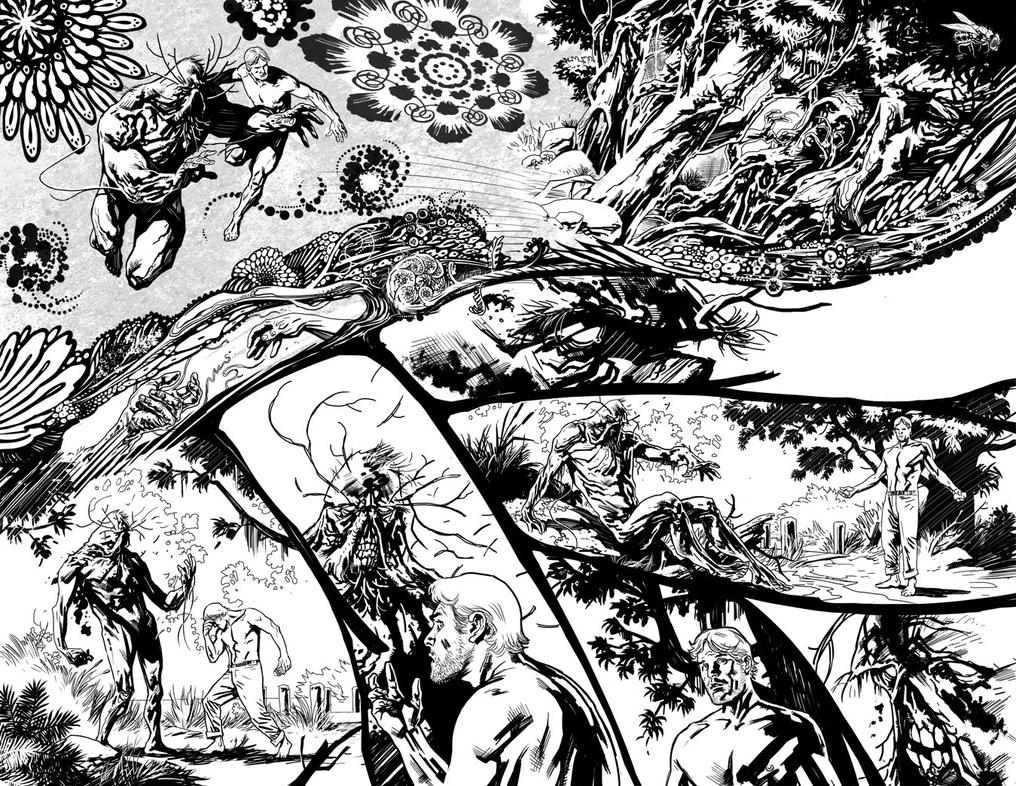 Swamp Thing 2 page 10 and 11 by YanickPaquette