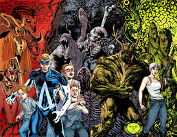 SWAMP THING and ANIMAL MAN 12 Final by YanickPaquette