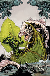 Swampthing cover 14, color by YanickPaquette