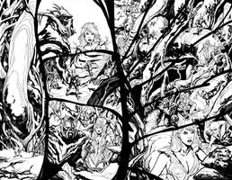 Swamp Thing 13 p.8-9 by YanickPaquette