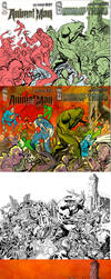 Swamp thing and animal Man #17 Behind the scene by YanickPaquette