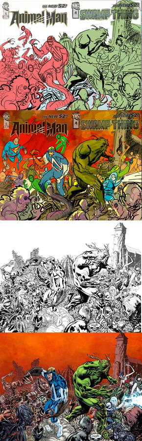 Swamp thing and animal Man #17 Behind the scene