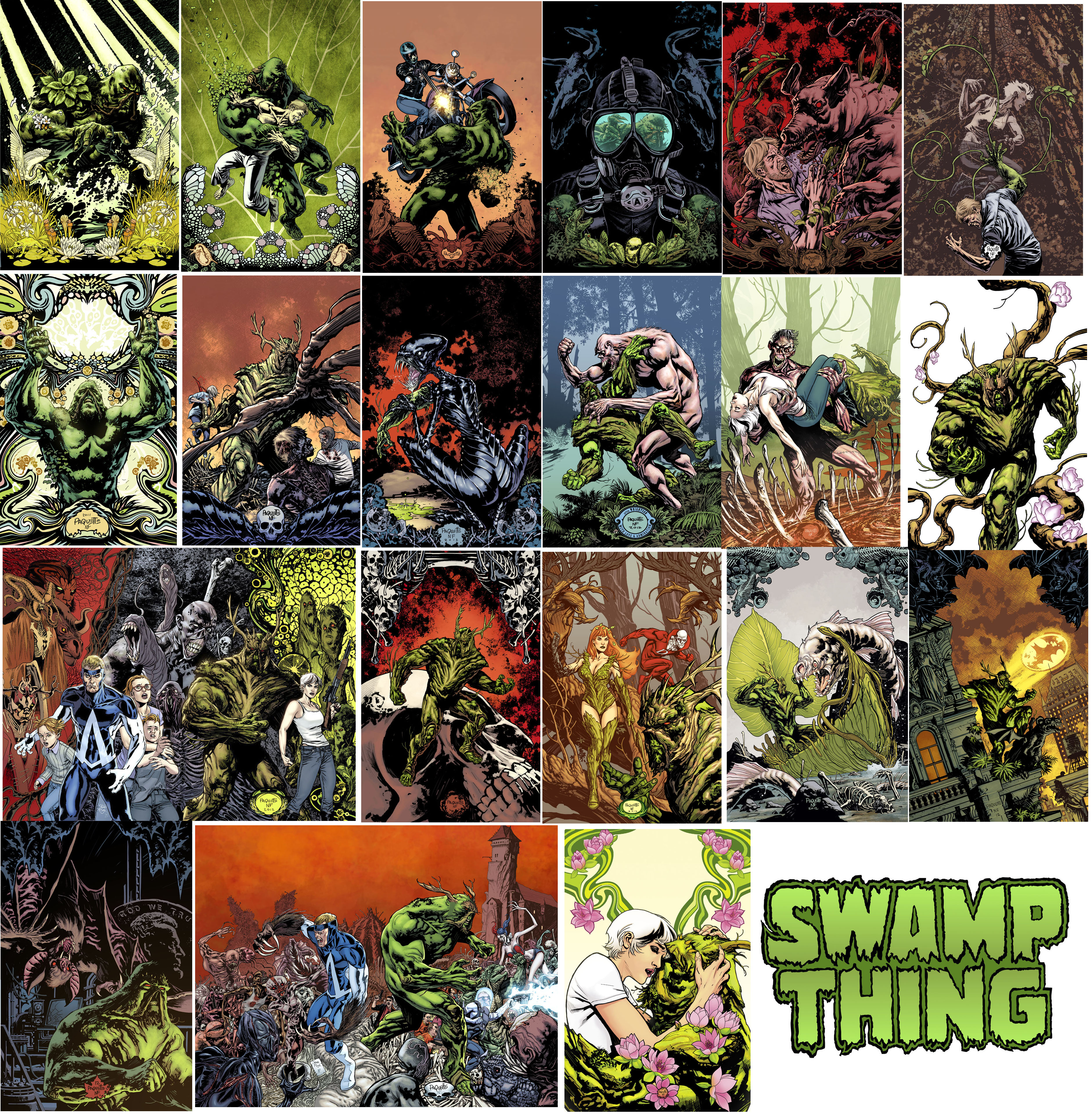 SWAMP THING COVER RUN by YanickPaquette