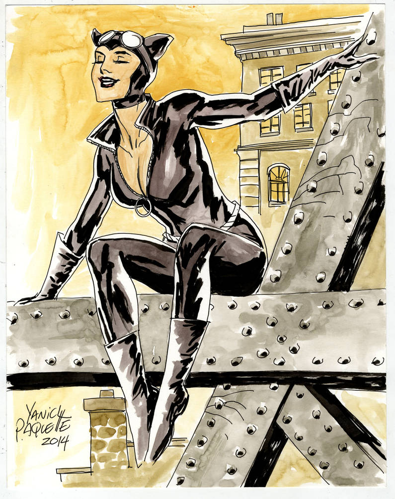 Catwoman sketch for Germany by YanickPaquette