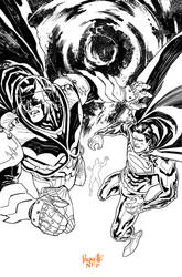 Batman Superman 30 Bw
