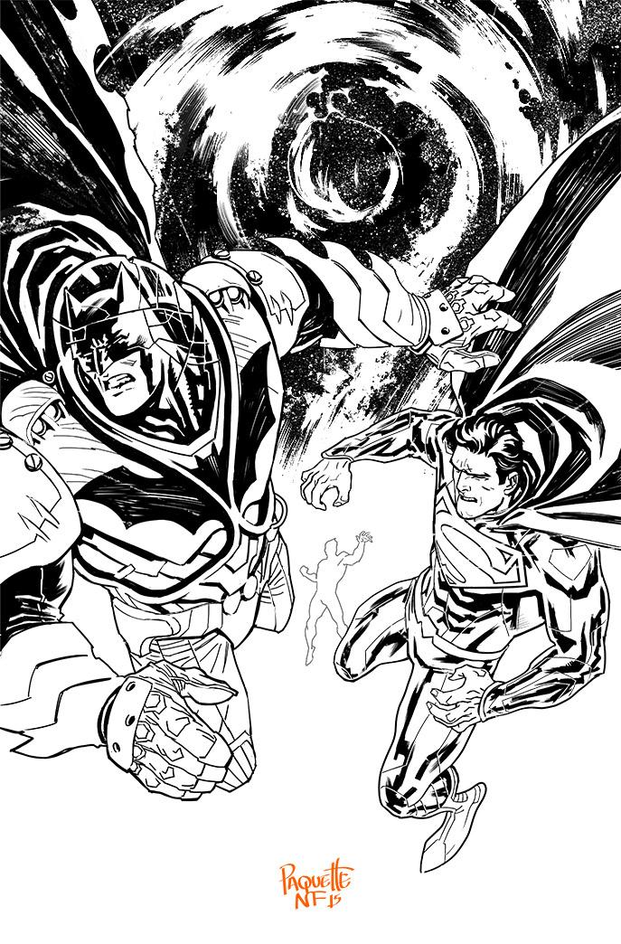 Batman Superman 30 Bw